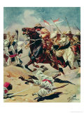Charge of the 21st Lancers at Omdurman, 2nd September 1898 Giclee Print by William Barnes Wollen