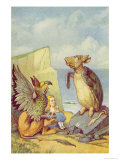The Mock Turtle and the Gryphon, Illustration from Alice in Wonderland by Lewis Carroll Giclee Print by John Tenniel