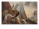 Israelites Afflicted with the Brazen Serpent Giclee Print by Simon Vouet