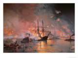 Capture of New Orleans by Union Flag Officer David G. Farragut, 24 April 1862 Giclee Print by Julian Oliver Davidson
