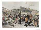 Public Punishments in the Place Ste. Anne, c.1835 Giclee Print by Johann Moritz Rugendas