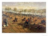 Battle of Gettysburg, 1863, Printed by L. Prang and Co., 1887 Giclee Print by Thure De Thulstrup