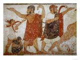 Two Men, from the Tomb of the Augurs, c.530-520 BC Giclee Print by  Etruscan