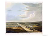 Railway Across Chat Moss, Coloured View of the Liverpool and Manchester Railway, c.1833 Giclee Print by Thomas Talbot Bury