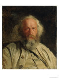 Portrait of Mikhail Alexandrovich Bakunin Giclee Print by Nikolai Nikolajevitch Gay