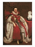 King James I of England and VI of Scotland, 1621 Giclee Print by Daniel Mytens