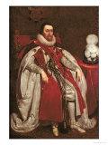 King James I of England and VI of Scotland, 1621 Lámina giclée por Daniel Mytens