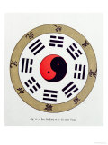The Pa-Kua Symbol, Showing the Symbols For the Eight Changes, the Trigrams and Yin and Yang Giclee Print
