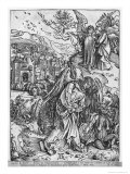 The Apocalypse, the Angel Holding the Keys of the Abyss and a Big Chain, Latin Edition, 1511 Giclee Print by Albrecht Dürer