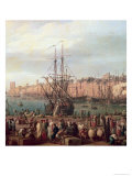 Morning View of the Inner Port of Marseille and the Pavilion of the Horloge du Parc, 1754 Giclee Print by Carle Vernet
