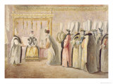 Farewell Audience of French Ambassador Charles Gravier Giclee Print by Antoine de Favray