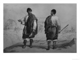 Miners of Chile, Engraved by F. Lehnert Giclee Print by Claudio Gay