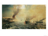 Bombardment of Sale, 26th November 1851, 1855 Giclee Print by Gudin