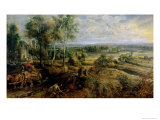 Autumn Landscape with a View of Het Steen in the Early Morning, c.1636 Giclee Print by Peter Paul Rubens