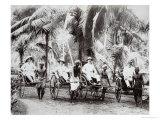 Rickshaw Carriers, Ceylon, c.1875 Giclee Print