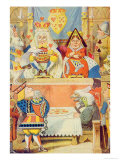 The Trial of the Knave of Hearts, Illustration from Alice in Wonderland by Lewis Carroll Giclee Print by John Tenniel