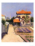 The Artist&#39;s House at Yerres, c.1882 Giclee Print by Gustave Caillebotte