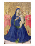 The Bosco Ai Frati Altarpiece: The Virgin and Child Enthroned with Two Angels, 1452 Giclee Print by  Fra Angelico