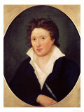 Portrait of Percy Bysshe Shelley, 1819 Giclee Print by Amelia Curran