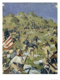 Theodore Roosevelt Taking the Saint-Juan Heights, 1898 Gicl&#233;e-Druck von Vasilij Vereshchagin