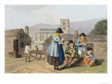Wensleydale Knitters, from Costume of Yorkshire Engraved by Robert Havell Giclee Print by George Walker