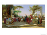 Horatius Reading His Satires to Maecenas, 1863 Giclee Print by Fedor Andreevich Bronnikov