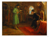 Boris Godunov with Ivan the Terrible Giclee Print by Ilya Efimovich Repin