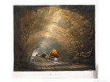 The Tunnel, Coloured View of the Liverpool and Manchester Railway, c.1833 Giclee Print by Thomas Talbot Bury