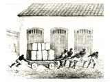 Custom House Negroes, Rio de Janeiro, Engraved by Redman, 1821 Giclee Print by Jan Henderson