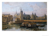 The Ile de La Cite and the Palais de Justice Giclee Print by Theodor Josef Hubert Hoffbauer