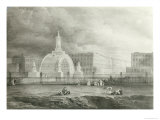The Proposed Triumphal Arch from Portland Place to Regent's Park, 1820 Giclee Print by John Martin
