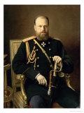 Portrait of Emperor Alexander III Giclee Print by Ivan Nikolaevich Kramskoy