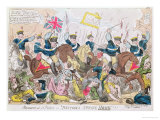 Massacre at St. Peter's, or 'Britons Strike Home'!!!, Pub. by Thomas Tegg, 1819 Giclee Print by George Cruikshank