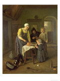 Peasant Family at Meal Time, c.1665 Giclee Print by Jan Havicksz. Steen