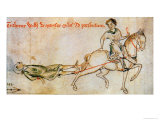 William Marsh Being Dragged to His Execution in 1240 Giclee Print by Matthieu Paris