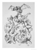 Beelzebub Expels the Fallen Angels, Illustration For an Edition of Paradise Lost by John Milton Giclee Print by Richard Edmond Flatters