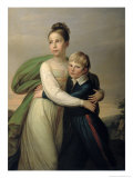 Prince Albrecht and Princess Louise, c.1817 Giclee Print by Franz Gerhard von Kugelgen