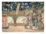 Stage Design For Nikolai Rimsky-Korsakov's Opera The Snow Maiden, 1883 Giclée-Druck von Victor Mikhailovich Vasnetsov