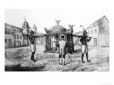 Brazilian Sedan Chair and a Person Begging For the Church, 1821 Giclee Print by Jan Henderson