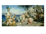 Phryne at the Festival of Poseidon in Eleusin Giclee Print by Henryk Siemieradzki