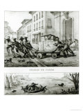 Negroes with a Cart and Brazilian Boat Made from Leather Giclee Print by Jean Baptiste Debret