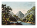 View in Oheitepha Bay on the Island of Otaheite, from Captain Cook's Last Voyage, 1809 Giclee Print by John Webber