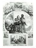 Reconstruction and How It Works, from 'Harpers Weekly' Vol.10, 1866 Giclee Print by Thomas Nast