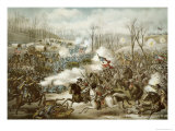 Battle of Pea Ridge, Arkansas, 6th-8th March, Engraved by Kurz and Allison Giclee Print