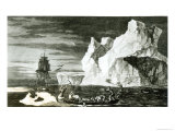 The Ice Islands on the 9th January 1773 Giclee Print by William Hodges