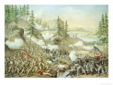 Battle of Chattanooga, 23rd November, 1863, Engraved by Kurz and Allison, 1888 Giclee Print