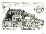 All Souls College, Oxford University, 1675 Giclee Print by David Loggan