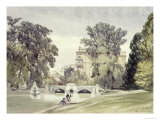 West End of the Serpentine, Kensington Gardens Giclee Print by William Callow