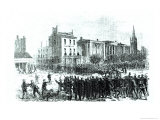 New Orleans Race Riot of July 30Th, 1866, Illustration from Harper&#39;s Weekly Magazine in 1866 Giclee Print by Theodore Russell Davis