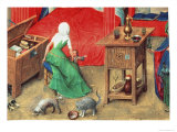 Birth of John the Baptist and the Baptism of Christ Giclee Print by  Jan van Eyck